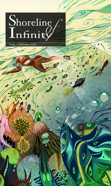 Shoreline Issue 4 Cover. Cover by Sara Julia.