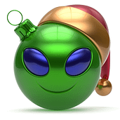 May shiny aliens baubles always dangle from your Christmas Tree.