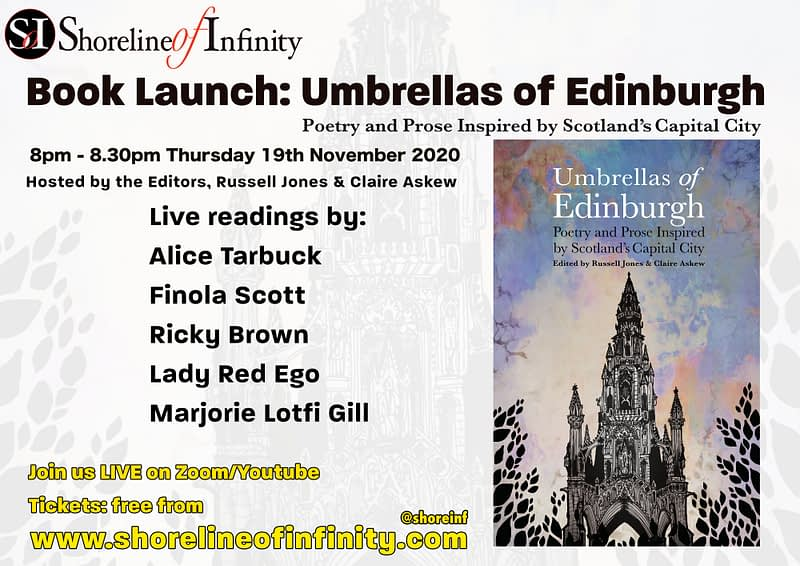 Book Launch Umbrellas of Edinburgh