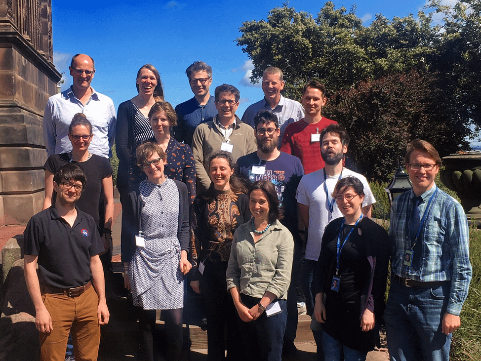 Group photo of the writers, editors and artists